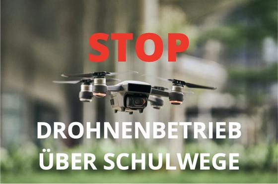 STOP Drohnen über Schulwege in der Stadt Zürich